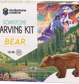 Studiostone Creative Soapstone Carving Kit Bear