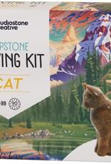 Studiostone Creative Soapstone Carving Kit Cat