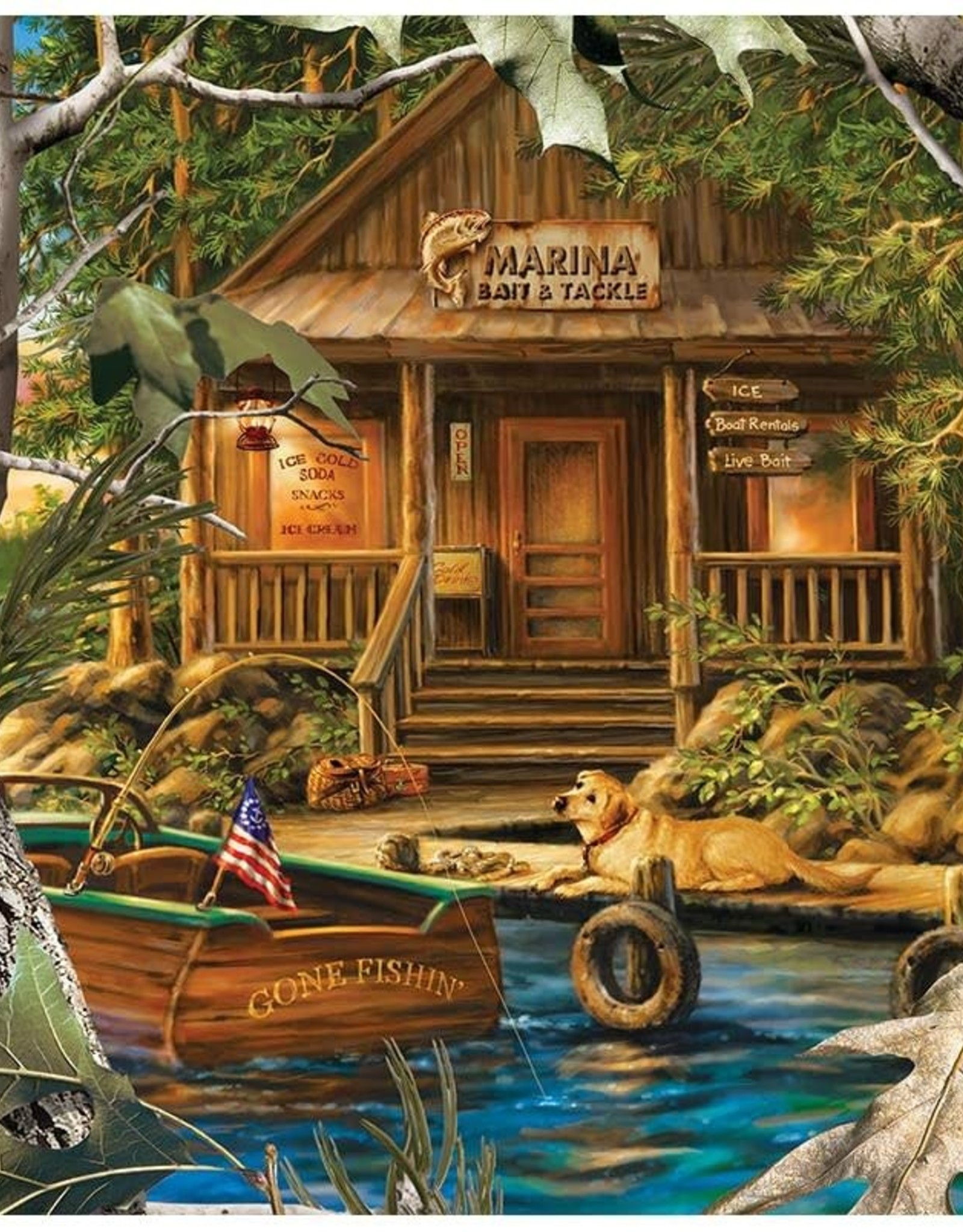Master Pieces 1000pc RealTree Gone Fishing