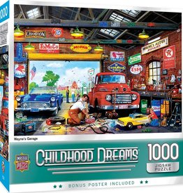 Master Pieces 1000pc Childhood Dreams - Wayne's Garage