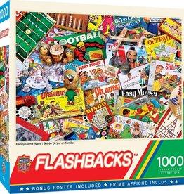 Master Pieces 1000pc Flashbacks - Family Game Night