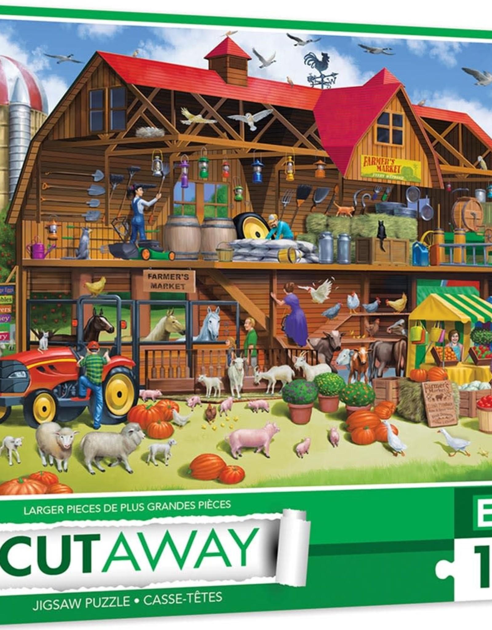 Master Pieces 1000pc Cut-Aways Family Barn EZGrip