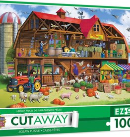 Master Pieces 1000pc Cut-Aways Family Barn EZGrip