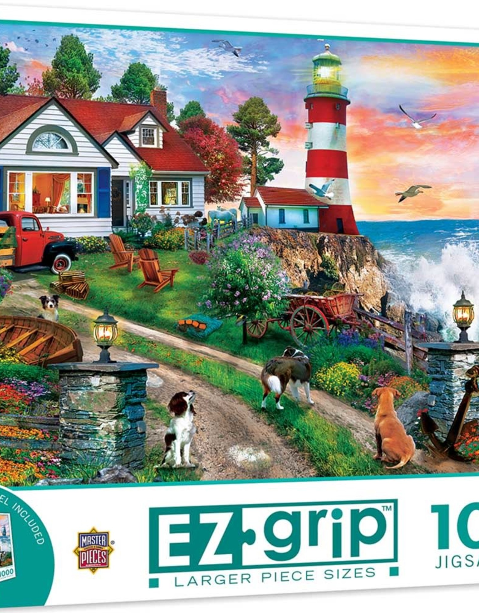 Master Pieces 1000pc Lighthouse Keepers EZGrip