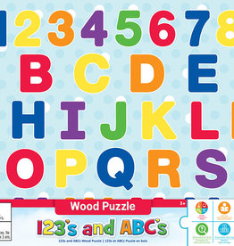 Master Pieces 123 ABC Wood Puzzle