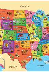 Master Pieces Floor Puzzle USA Map 60pc Shaped