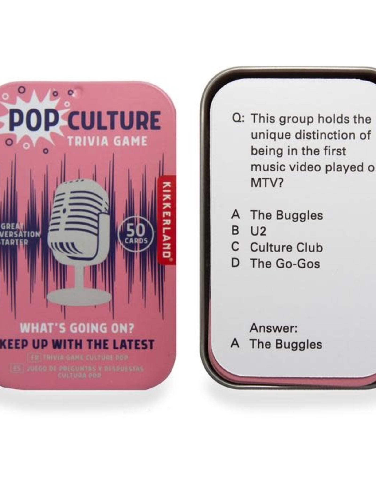 Kikkerland Pop Culture Trivia Game