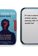 Kikkerland Do I Know You Trivia Game