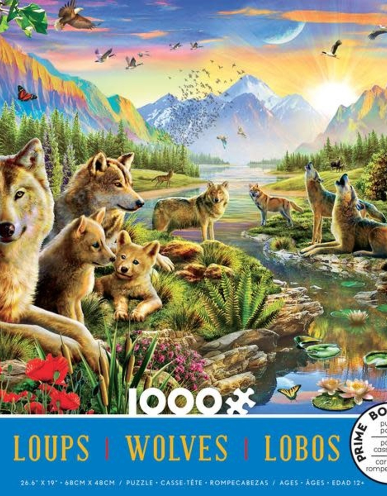 Ceaco 1000pc Wolves Blue Box