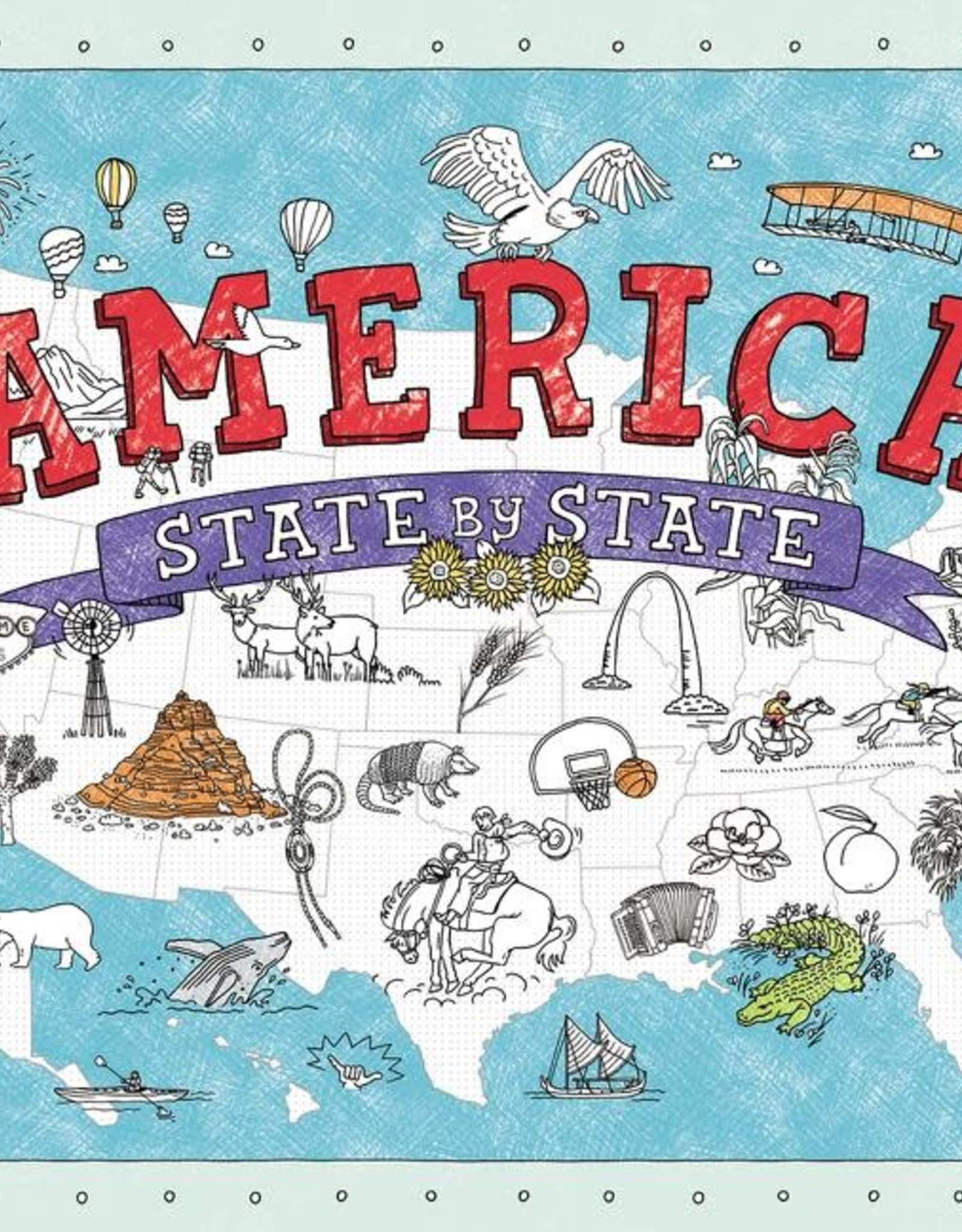 America States Coloring Placemats