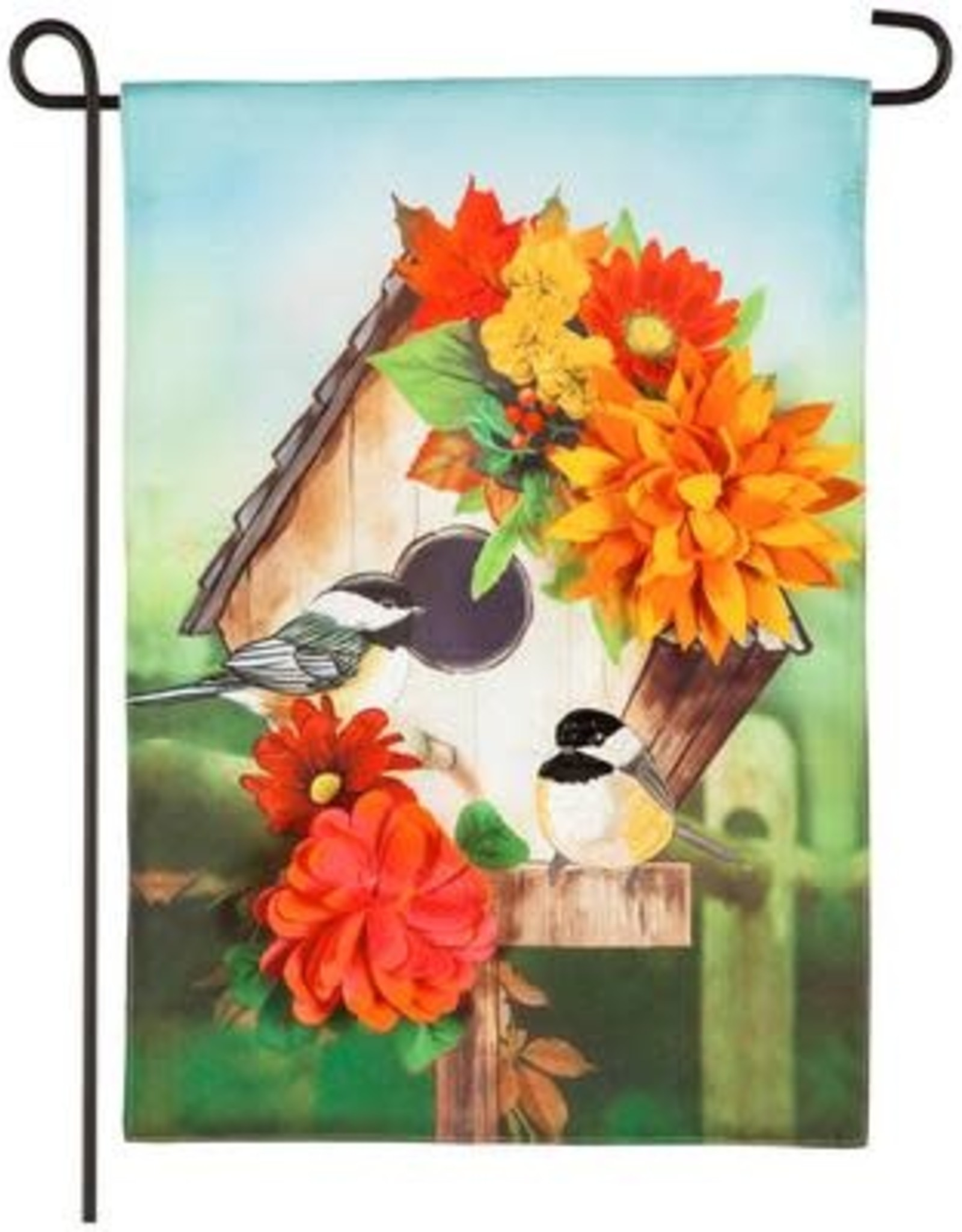 Evergreen EV GF Chickadee Floral Birdhouse