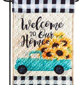 Evergreen EV GF Quilted Mint Sunflowers Truck