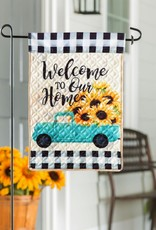 Evergreen EV GF Quilted Mint Sunflowers Truck