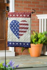Evergreen EV GF Quilted Stars & Stripes Heart