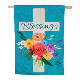 Evergreen EV Blessings Floral Cross
