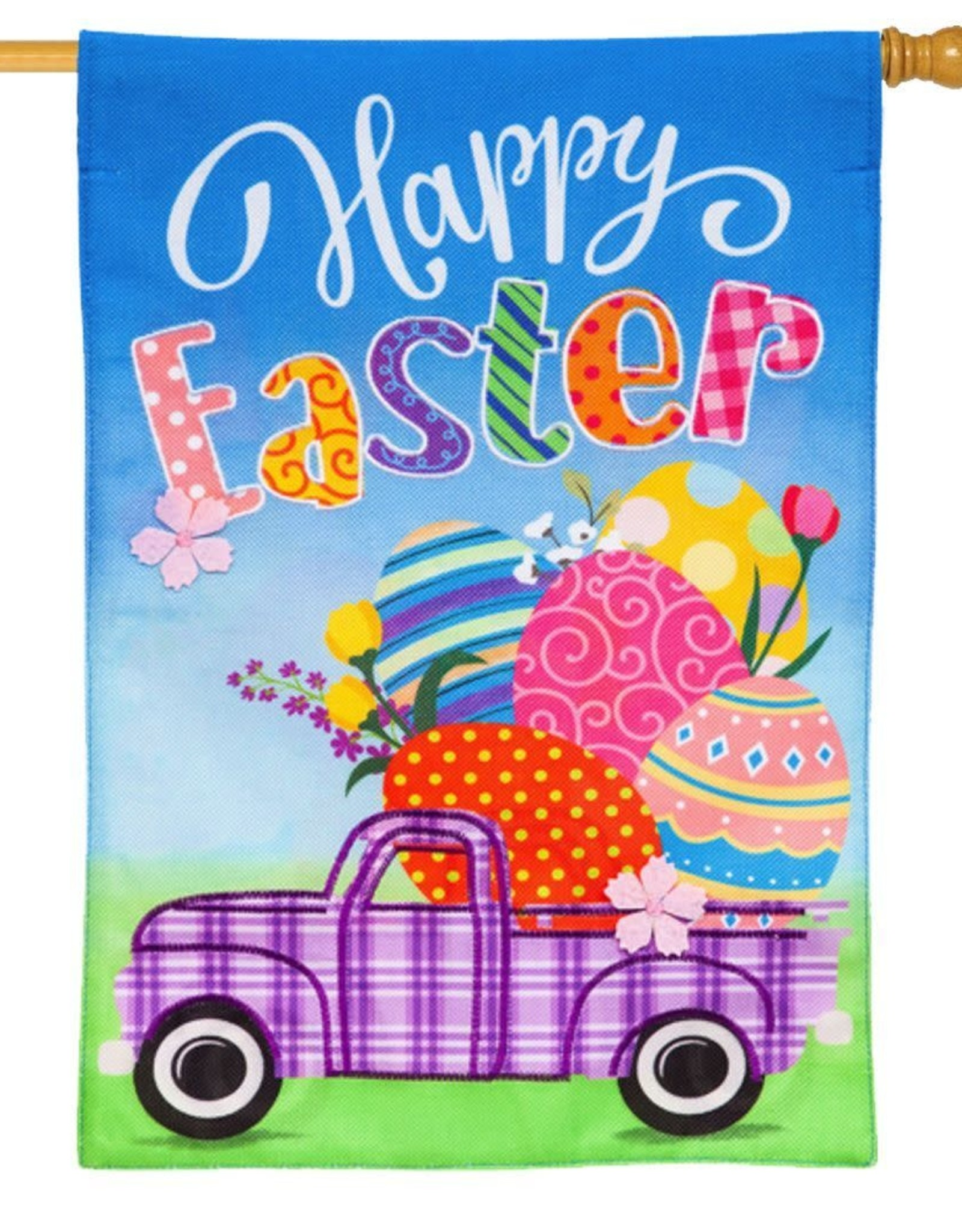 Evergreen EV GF Happy Easter Truck w Eggs