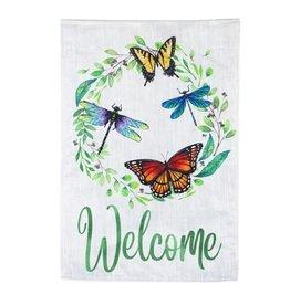 Evergreen EV GF Butterfly & Dragonfly Wreath