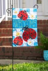 Evergreen EV GF Ladybug Plaid Welcome