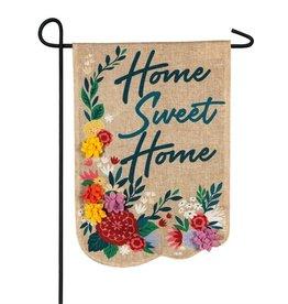 Evergreen EV GF Floral Home Sweet Home Burlap
