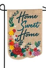Evergreen EV Floral Home Sweet Home Burlap
