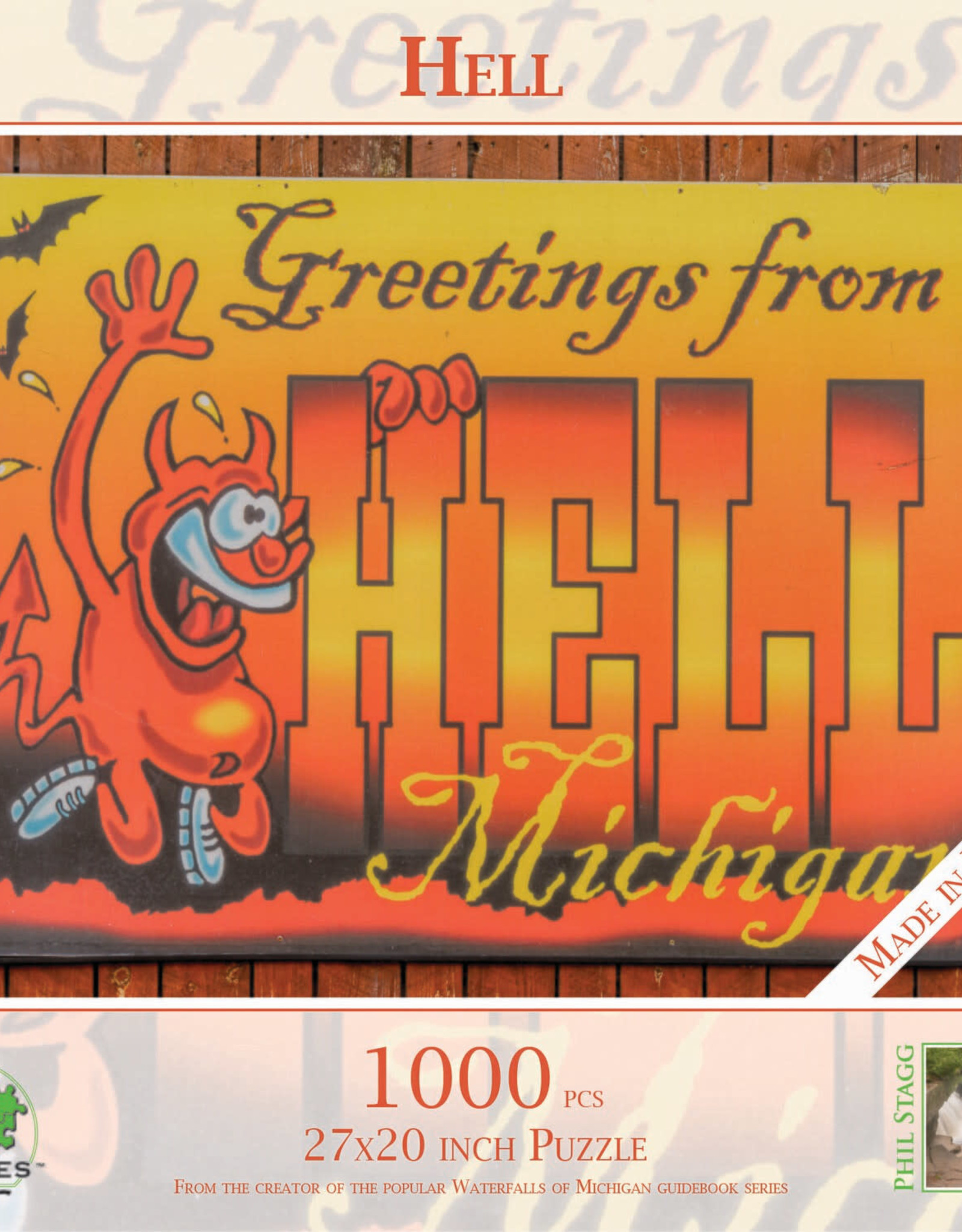 MI Puzzles 1000pc Greetings from Hell MI