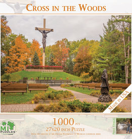 MI Puzzles 1000pc  Cross in the Woods