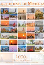 MI Puzzles 1000pc Lighthouses of Michigan