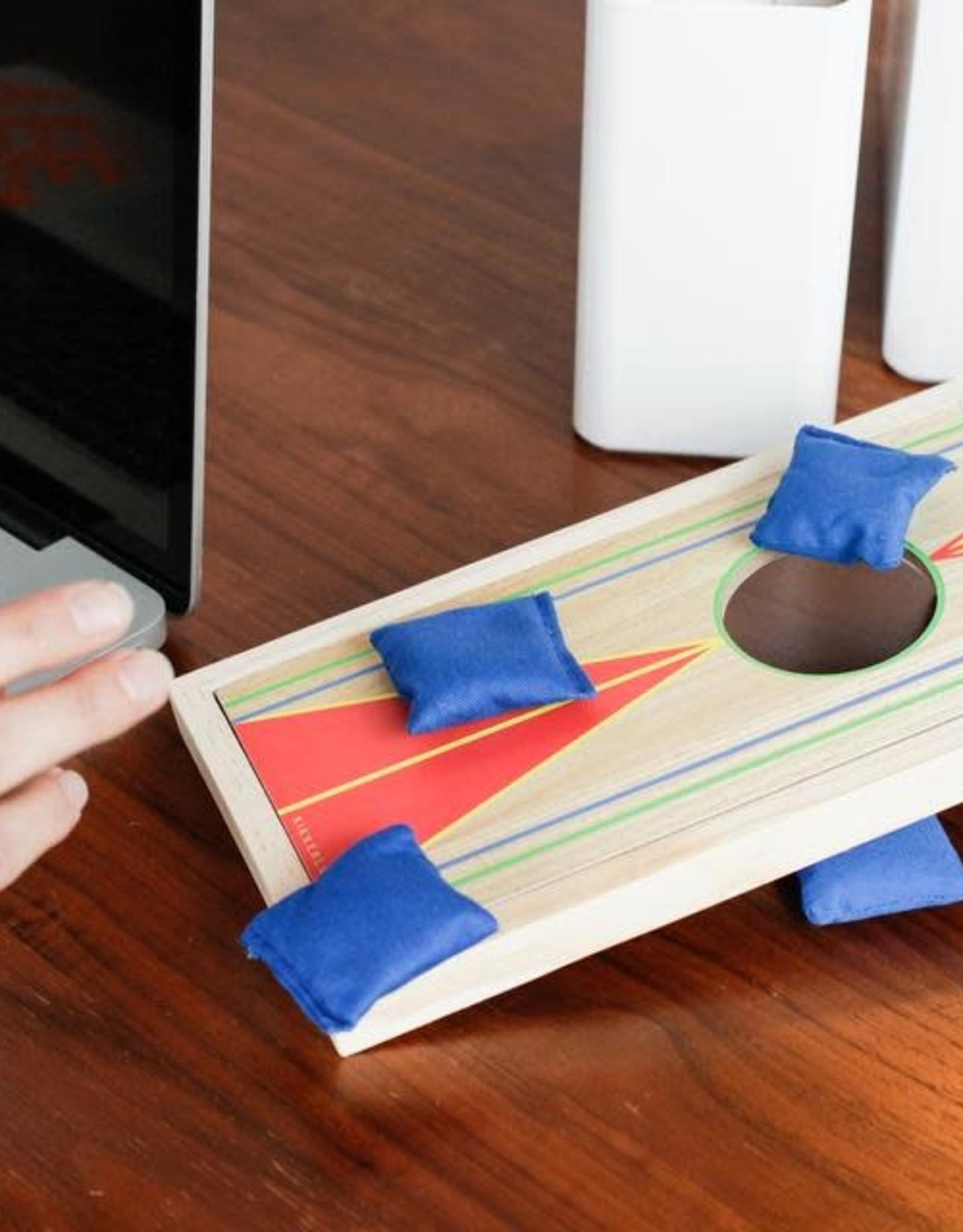Kikkerland Desktop Cornhole Bean Bag Game
