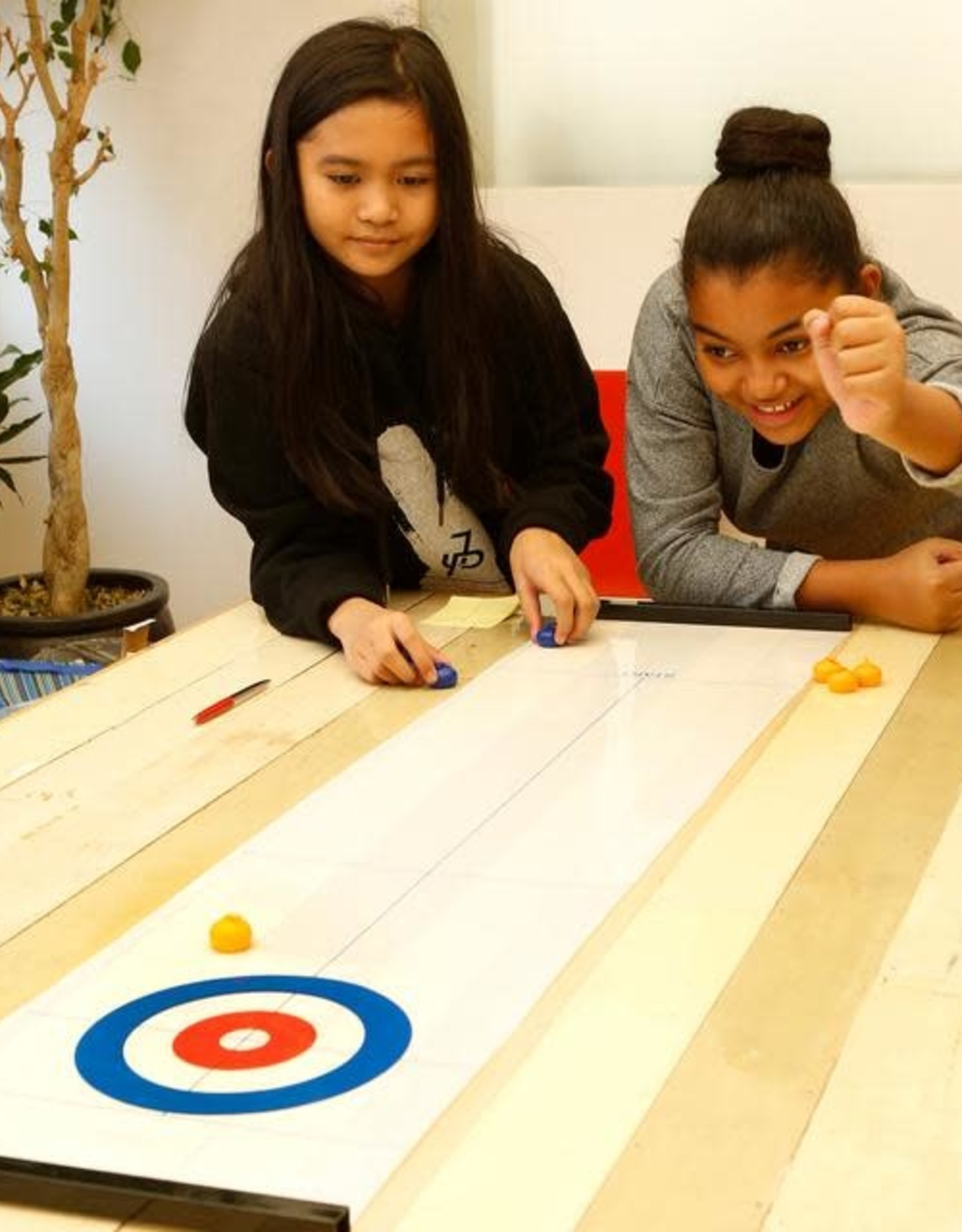 Kikkerland Tabletop Curling Game