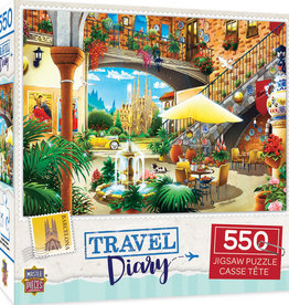 Master Pieces 550pc Travel Diary Barcelona