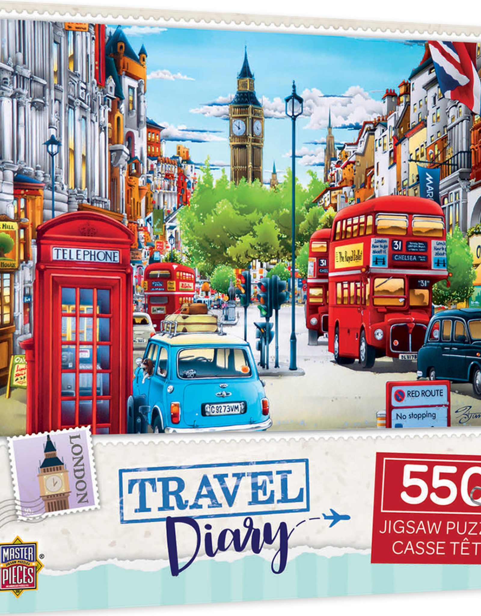 Master Pieces 550pc Travel Diary London