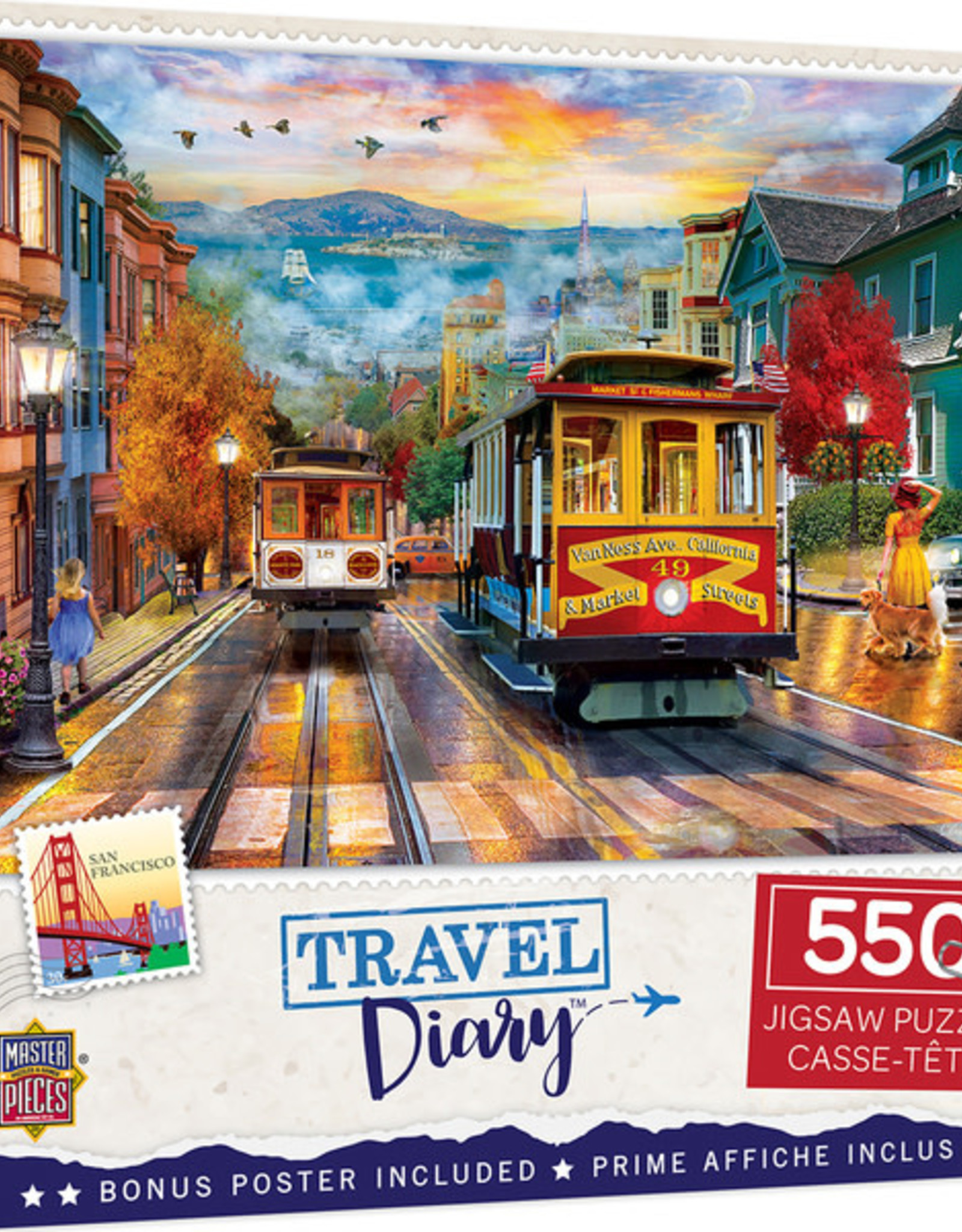 Master Pieces 550pc Travel Diary San Francisco