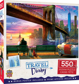 Master Pieces 550pc Travel Diary New York Romance