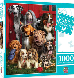Master Pieces 1000pc Furry Friends Sitting Pretty Dogs