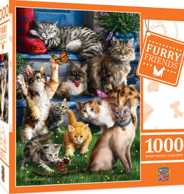 Master Pieces 1000pc Furry Friends Butterfly Chasers Cats