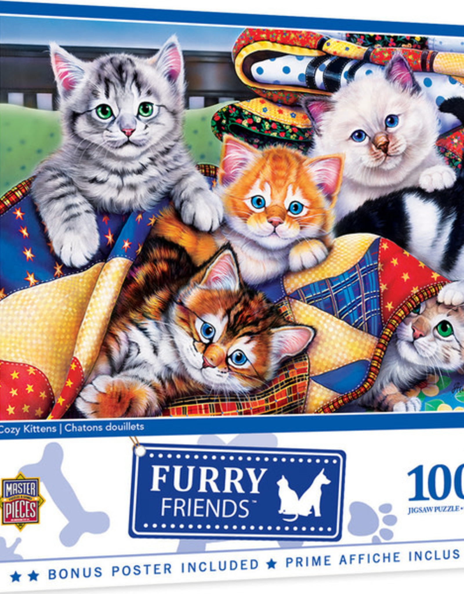 Master Pieces 1000pc Furry Friends Cozy Kittens