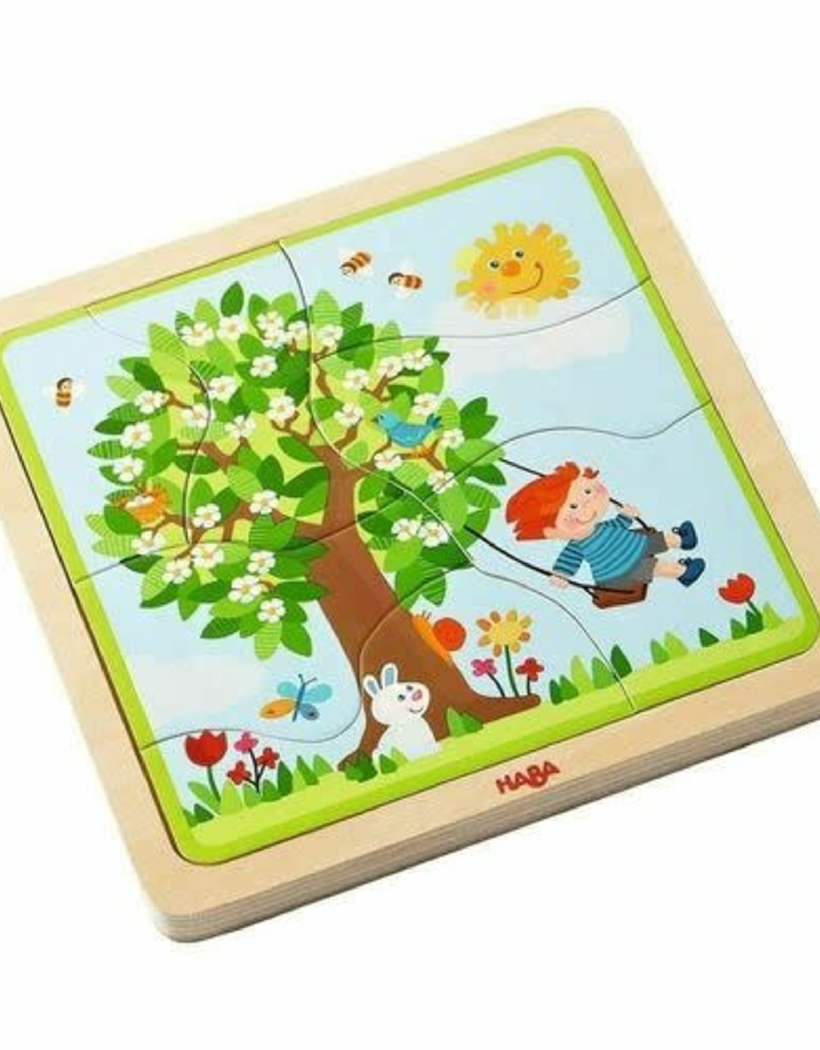 Haba 22pc My Time of Year Wooden Puzzle