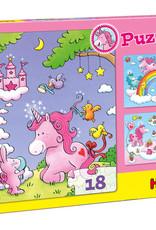Haba Unicorn Glitterluck 3 in 1 Puzzle Pack