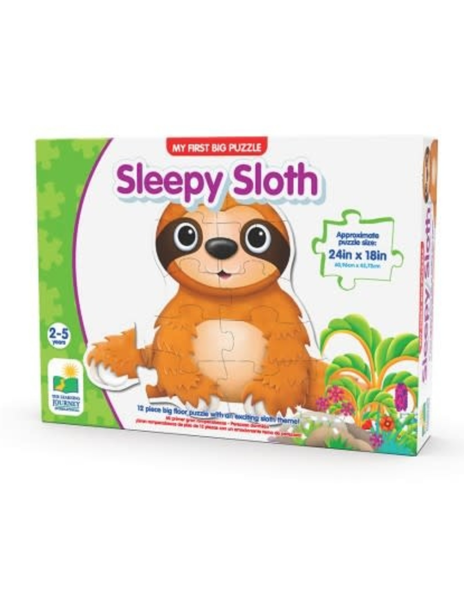 The Learning Journey 12pc Floor Puzzle My First Sleepy Sloth