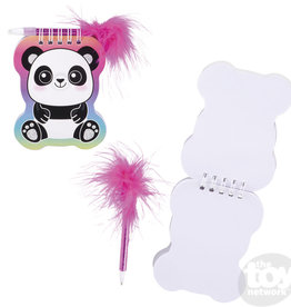 The Toy Network Notebook & Feather Pen Panda