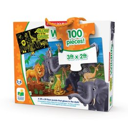 The Learning Journey Puzzle Doubles - Glow In The Dark - Wildlife