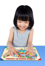 The Learning Journey Lift & Learn Wooden USA Map Puzzle