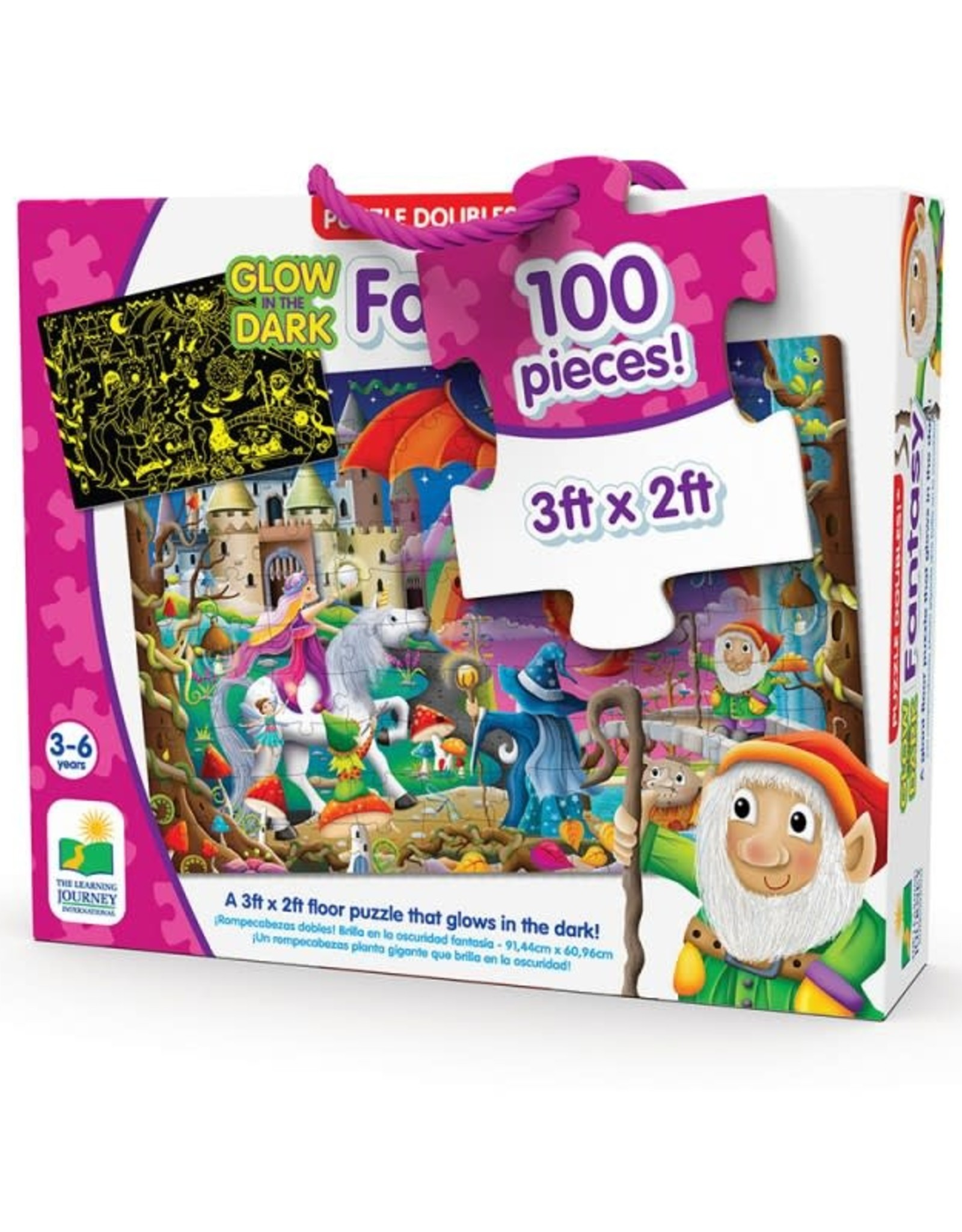 The Learning Journey Puzzle Doubles - Glow In The Dark - Fantasy