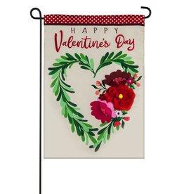Evergreen EV GF Valentine's Wreath Applique