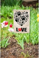 Evergreen EV GF Paw Prints Heart