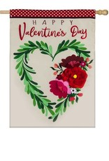 Evergreen EV House Valentine's Heart Wreath Applique