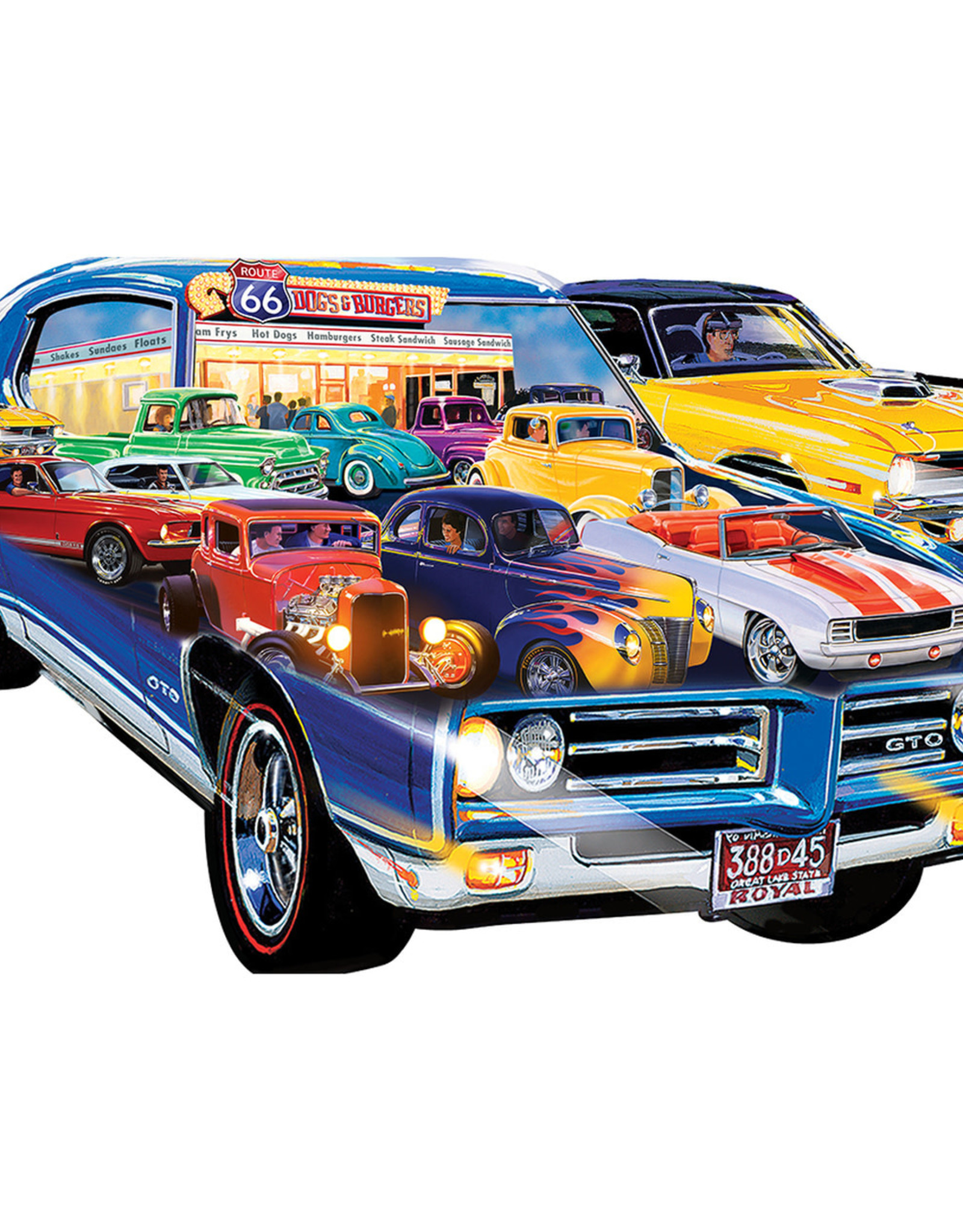 Master Pieces 1000pc Shaped Road Trippin Hot Rod
