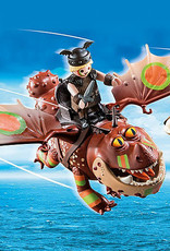 Playmobil PM Dragon Racing: Fishlegs and Meatlug