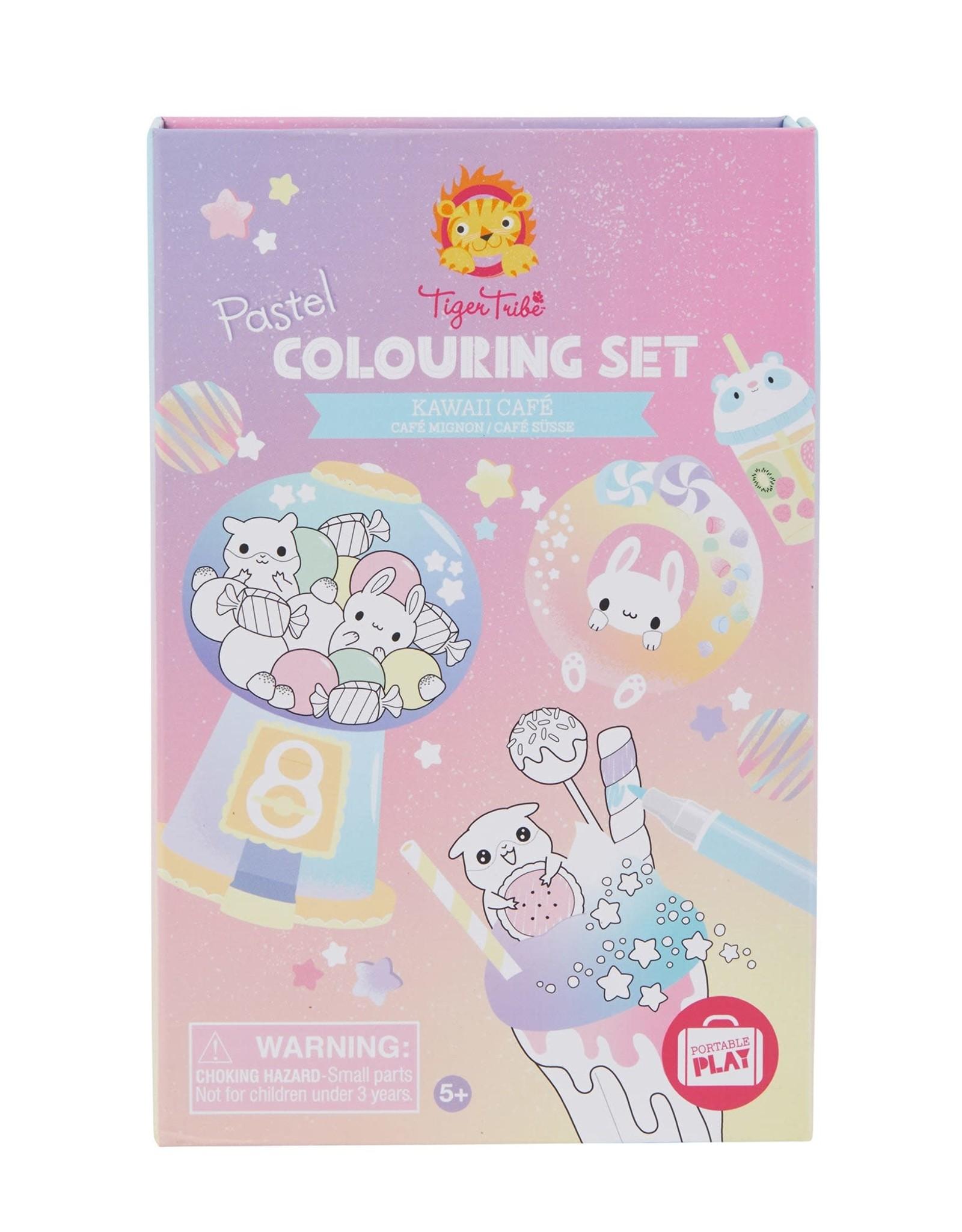 Schylling Coloring Set Kawaii Cafe Pastels