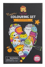 Schylling Coloring Set Neon Glow Friends